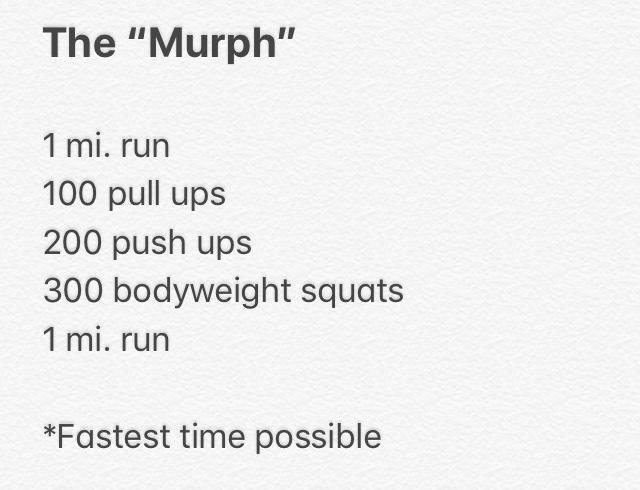 Image Result For Murph Workouta